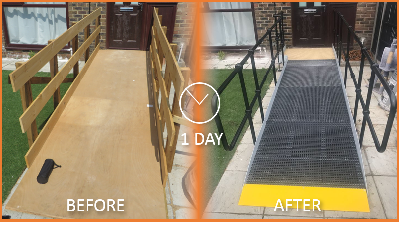 Residential Access Ramp | Before - After